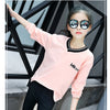 Pink Color V-Neck Long Sleeve Tee Top  in Strawbie Collections - Girls Tops