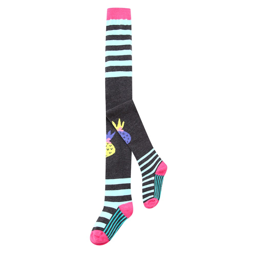 Comfy Cartoon Print Stockings For Girls 87 / 8-10Y in Strawbie Collections - girls leggings