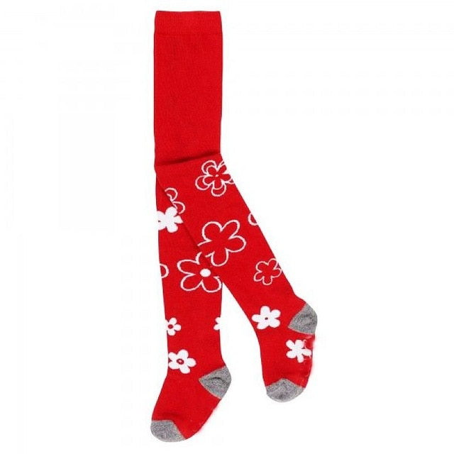 Comfy Cartoon Print Stockings For Girls 84 / 8-10Y in Strawbie Collections - girls leggings