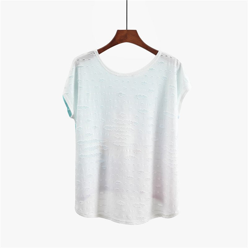 Soft Loose Bat Sleeve Summer Hi-Low T shirts  in Strawbie Collections - Girls Tops