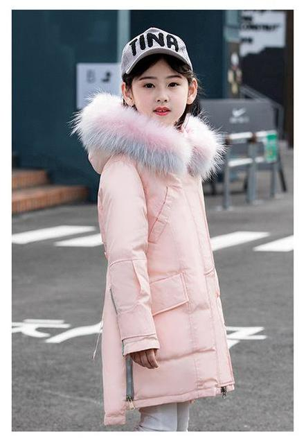 Fur Hooded Fashionable Downs And Parkas Pink / 14 in Strawbie Collections - padded-jacket