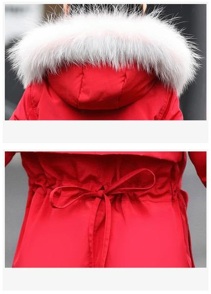 Fur Hooded Fashionable Downs And Parkas  in Strawbie Collections - padded-jacket