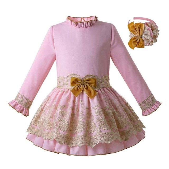 Pink Princess Dress with Headband As picture / 8 in Strawbie Collections - girls dress