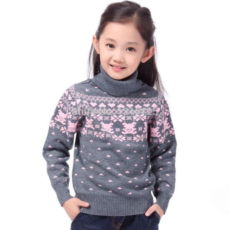 Turtle Neck Pullover - sweater - Grey turtle neck / 4 - Strawbie Collections
