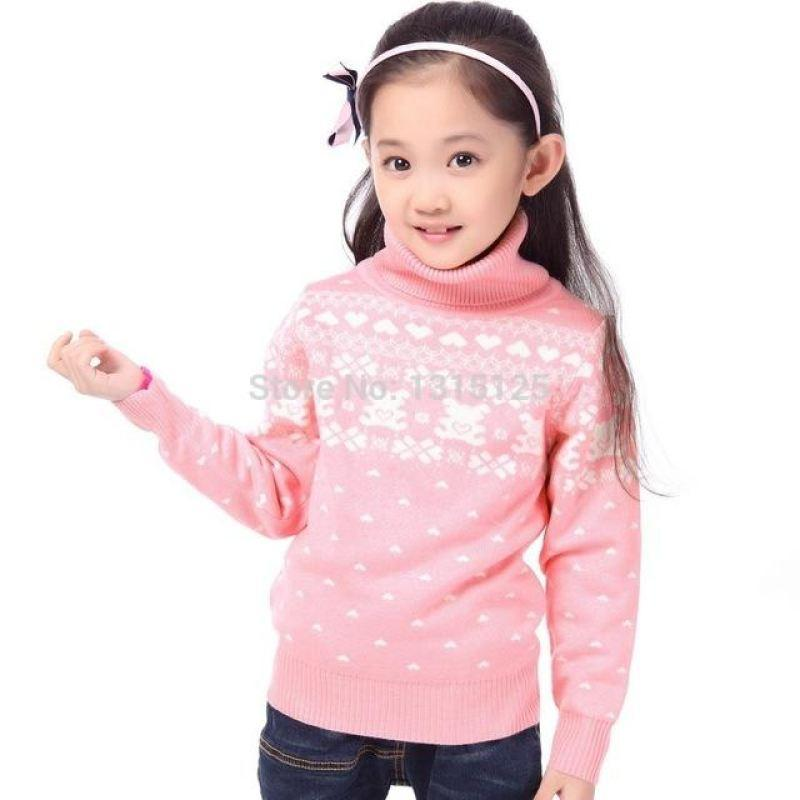 Turtle Neck Pullover - sweater - Pink turtle neck / 4 - Strawbie Collections