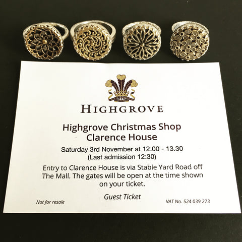 Harvey and Quinn jewellery at Highgrove Christmas shop, Clarence House 2018