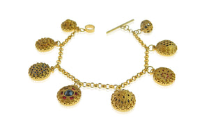 22ct gold plated charm bracelet