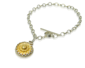 Decorative domed bracelet