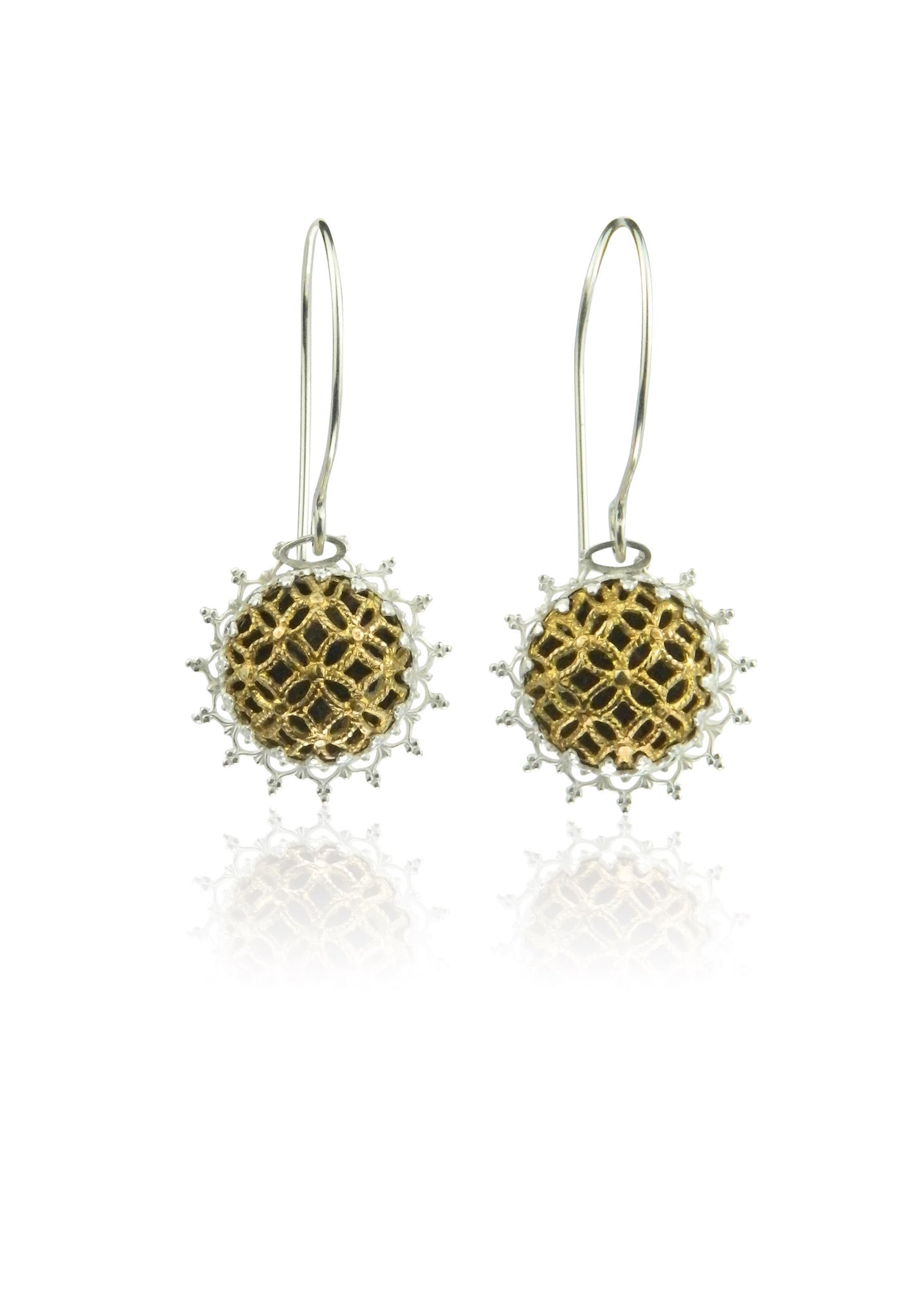 Filigree lace floral earrings