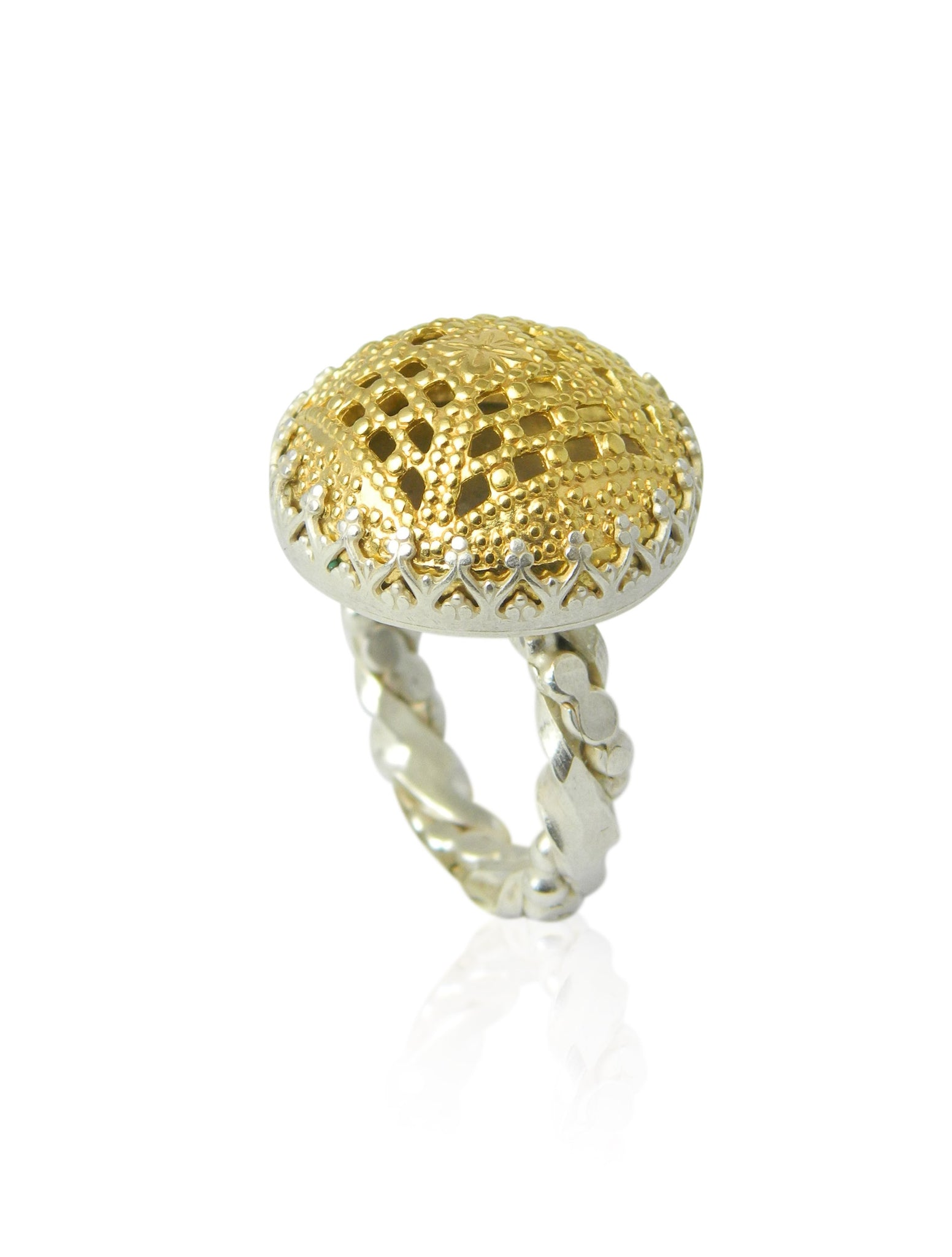 Large domed filigree ring