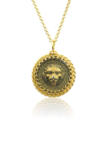 Lion pendant and chain