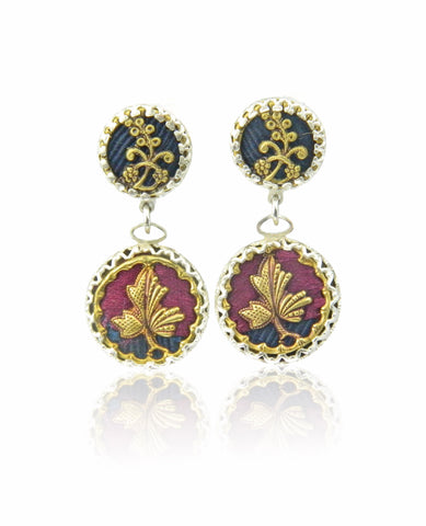 Maple leaf double drop earrings