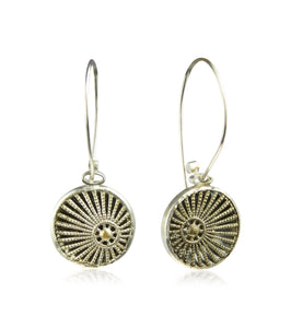 Sun ray filigree long earrings