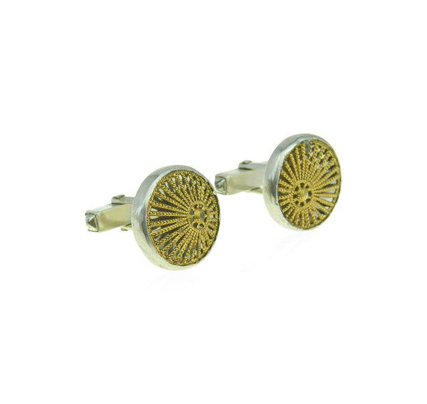 Sun ray filigree cufflinks