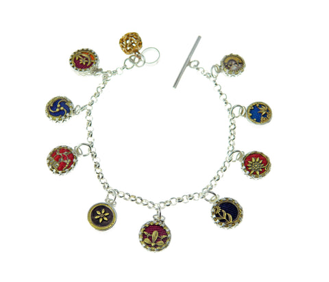 Sunflower charm bracelet