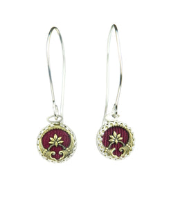 Maple leaf drop earrings