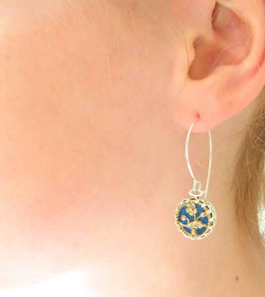 Mid blue earrings