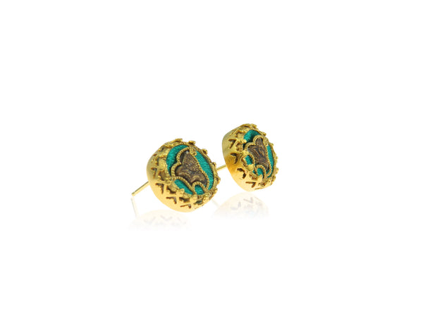 Paisley stud earrings