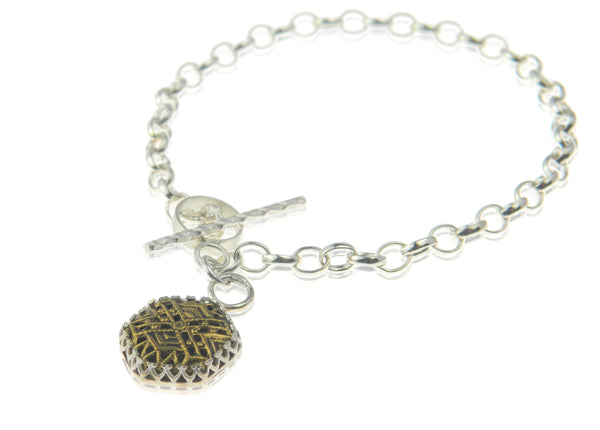 Hexagonal filigree bracelet