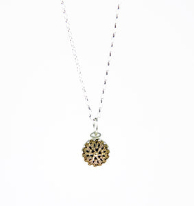 Small filigree pendant and chain