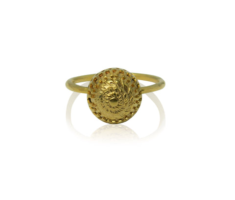 Small domed gold plated ring