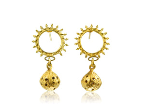 Ruff double drop earrings