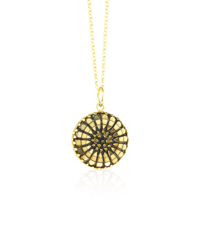 Sunflower pendant and chain