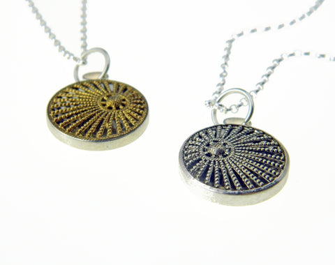 Sun ray filigree pendant and chain