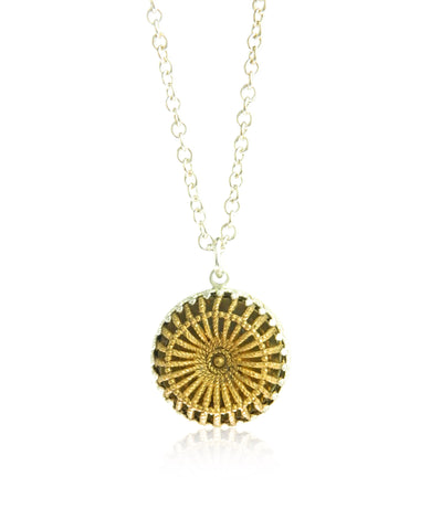 Weave filigree pendant and chain