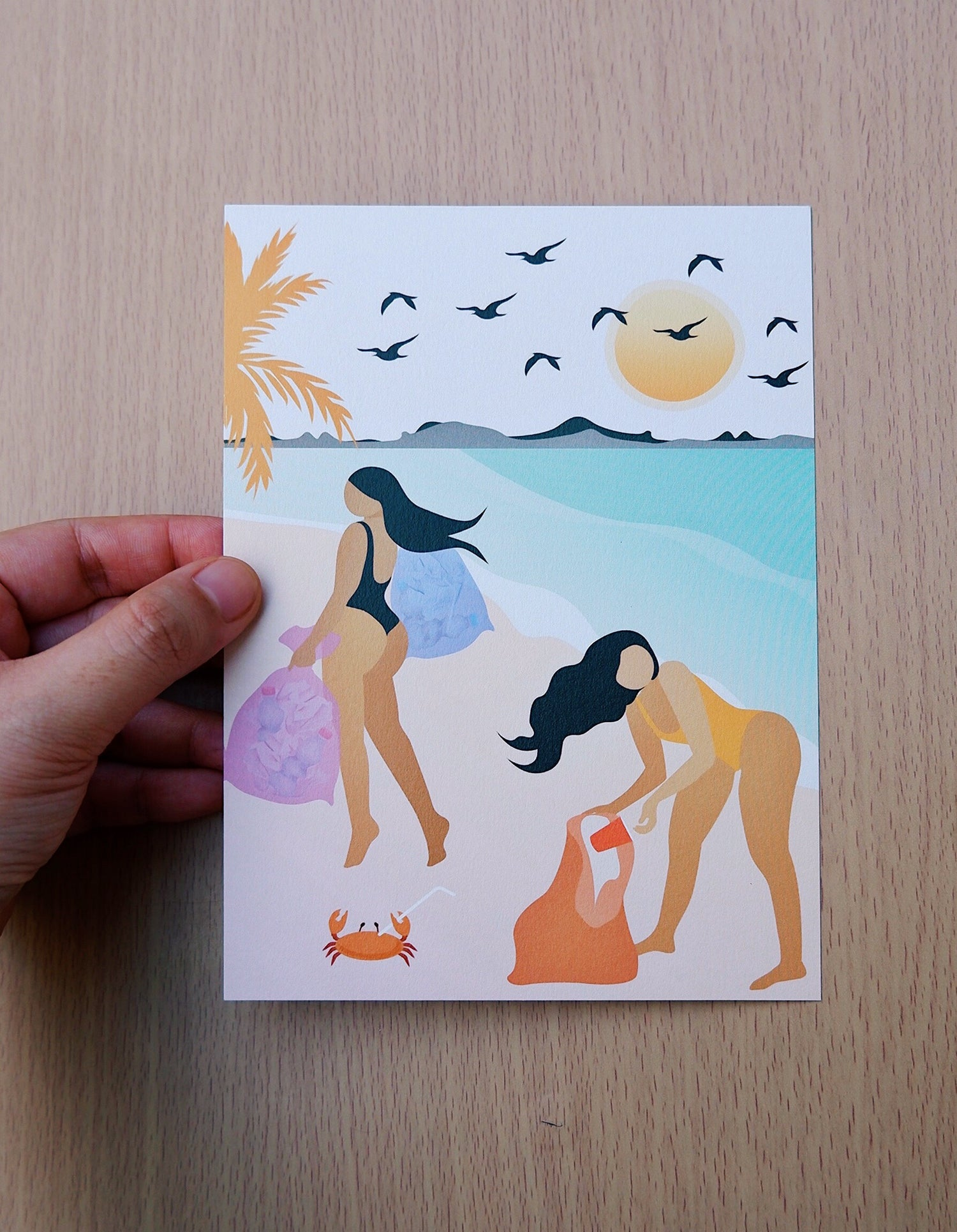 BEACHY POSTCARDS SET