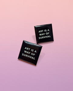 ART IS SURVIVAL EARRINGS