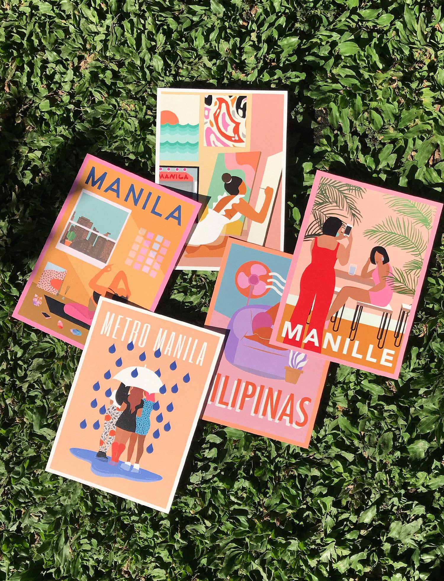 MANILA HONEY POSTCARD SET