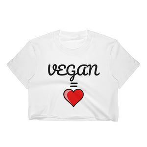VEGAN EQUALS LOVE CROP TOP TEE (In Stock)
