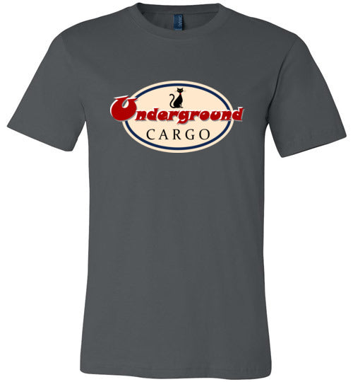 Retro Underground Cargo Cat - Canvas T-Shirt