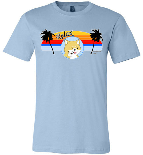 Retro Relax Doge Cigar -  Canvas T-Shirt