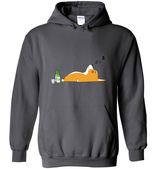 Corgi Nightlife - Gildan Heavy Blend Hoodie
