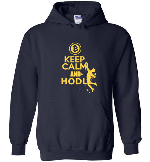 Bitcoin Keep Calm and Hodl - Gildan Heavy Blend Hoodie