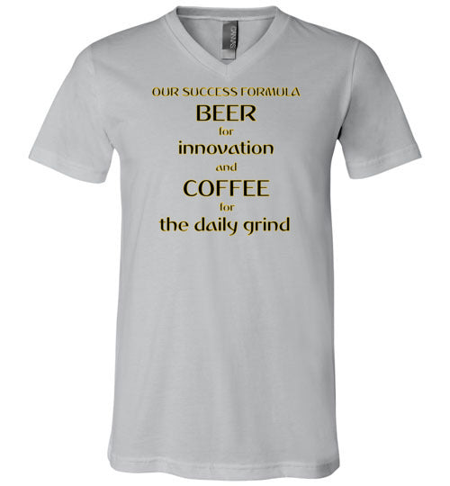 Our Success Formula Beer and Coffee - V-Neck T-Shirt