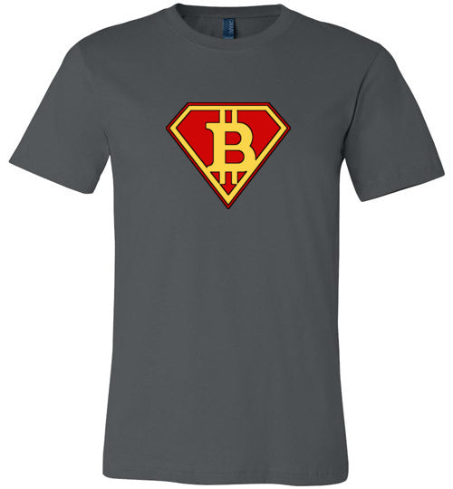 Bitcoin Super Hero - Canvas T-Shirt