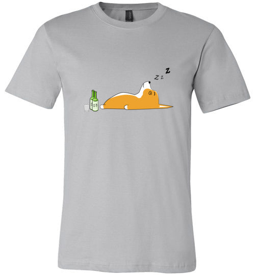 Corgi Nightlife - Canvas T-Shirt