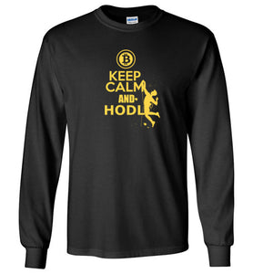 Bitcoin Keep Calm and Hodl - Gildan Long Sleeve Shirt