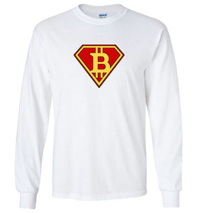 Bitcoin Super Hero - Gildan Long Sleeve Shirt
