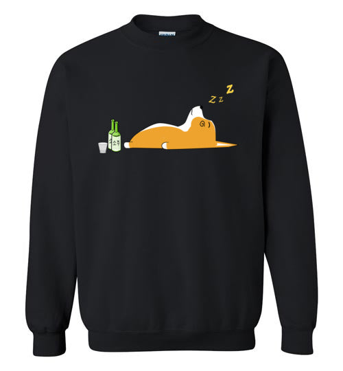 Corgi Nightlife 2 - Gildan Crewneck Sweatshirt