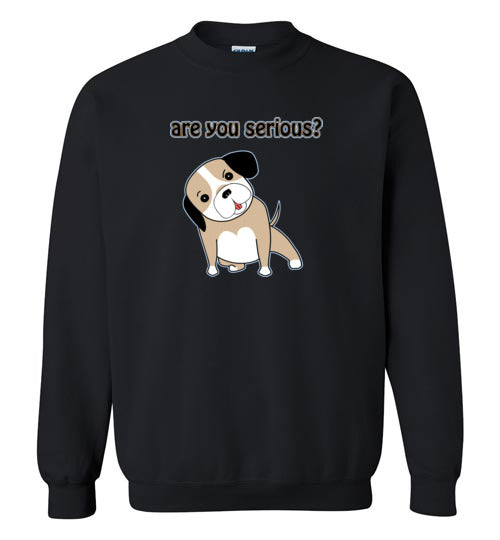 Are you Serious - Gildan Crewneck Sweatshirt