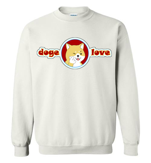 Doge I Love You - Gildan Crewneck Sweatshirt
