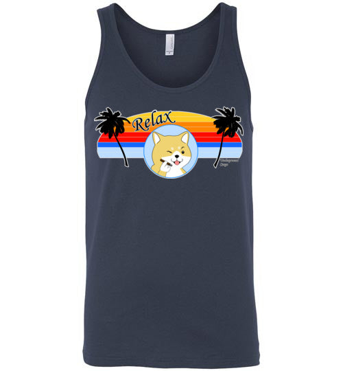 Retro Relax Doge Cigar - Canvas Tank