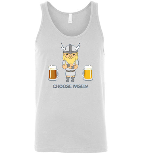 Choose Wisely Viking Beer Decisions - Canvas Tank