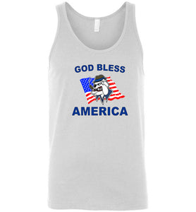 God Bless America Underground Bulldog - Canvas Tank
