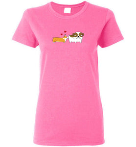 Corgi Crush - Gildan Ladies Short-Sleeve T-Shirt