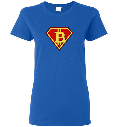 Bitcoin Super Hero - Gildan Ladies Short-Sleeve T-Shirt